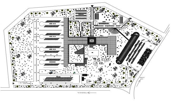 Bus Stop Design Plan AutoCAD File Download