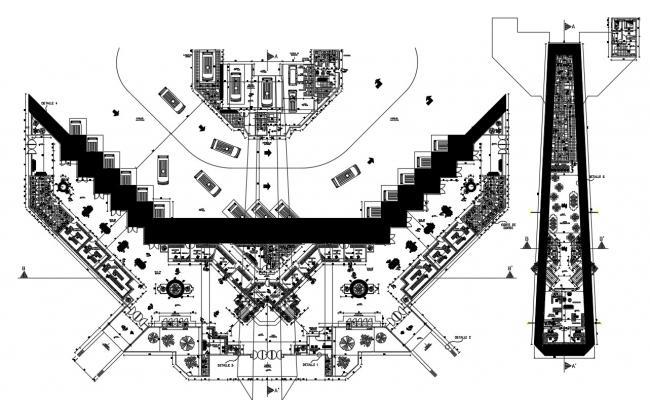 Bus Terminal Plan DWG File