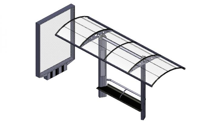 Bus stop top shelter design