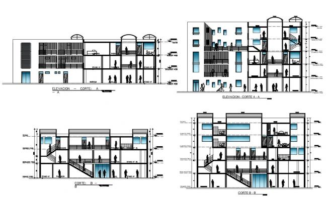 Business Center Building CAD Drawing