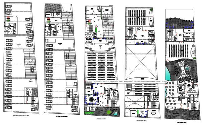 Business Center Floor Plans DWG File