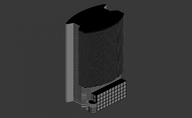 Business Hub Commerce Building 3d max file
