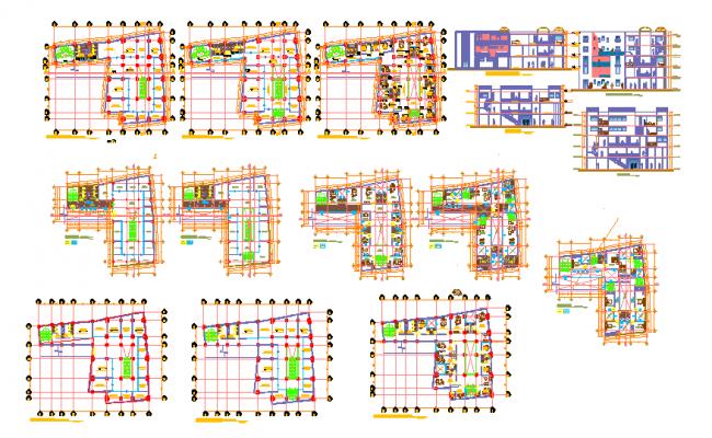 Business center Design Cad File
