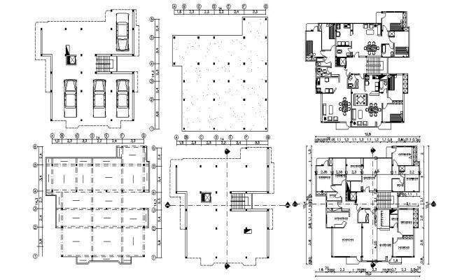 CAD Apartment Design Architecture Plan