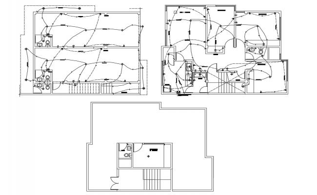 CAD drawings details of house electrical light fitting dwg file