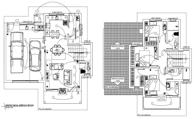 CAD electrical layout drawings in house dwg file