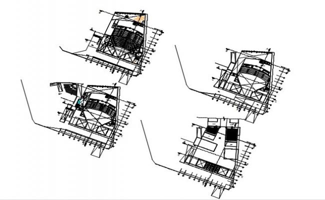 CAD plan drawings details of architectural auditorium building dwg file