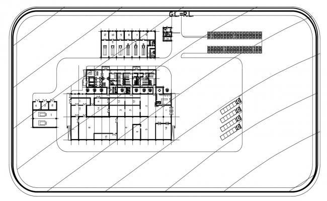 CAD plan drawings of industrial building units floor dwg file