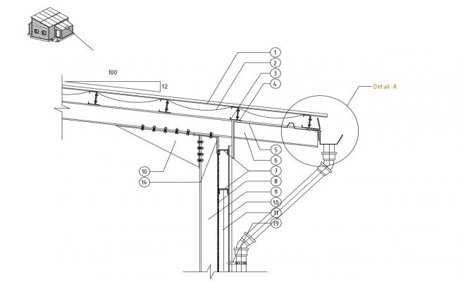 CAD structural drawings details of roofing construction block dwg file