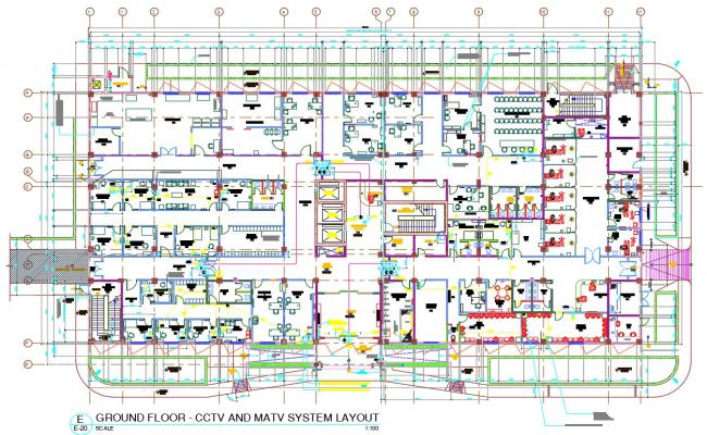 CCTV and MATV System Layout AutoCAD File