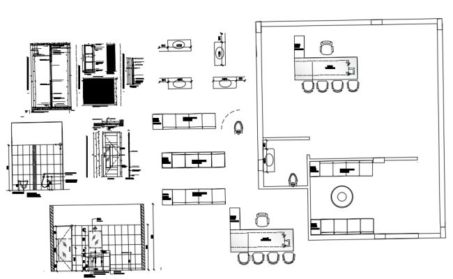 Office Cabin Design CAD file