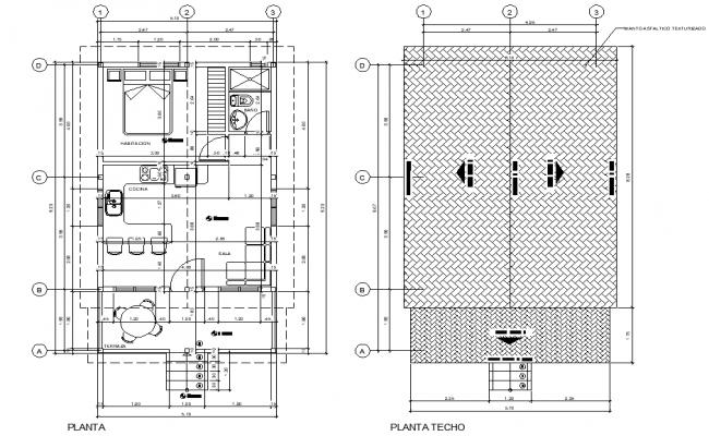 Cabin in wood plan layout file