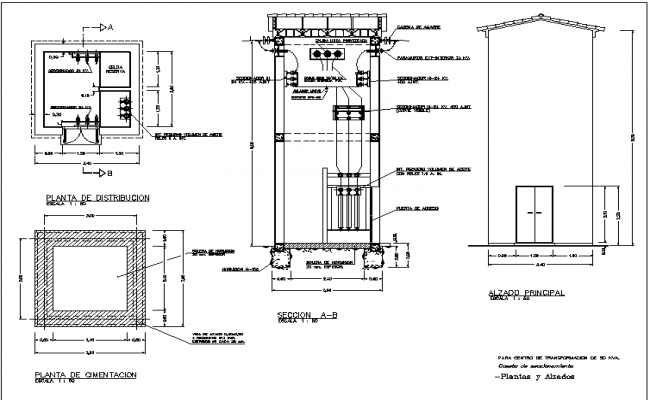 Cabin of work switch DWG file