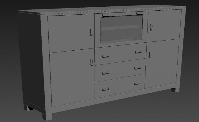 Cabinet Cupboard Design 3ds Max Furniture blocks