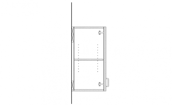 Cabinet Section dwg file
