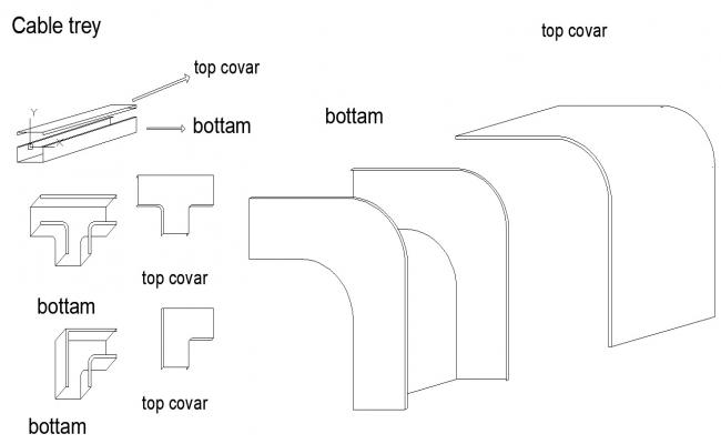 Cable Trey Sections drawings cad files