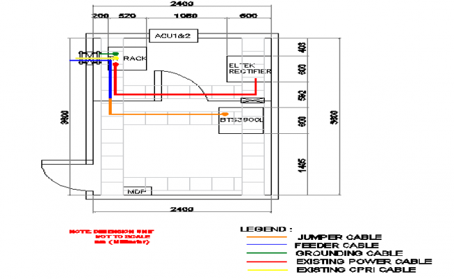 Cable panel details with cabin structure of electric tower dwg file