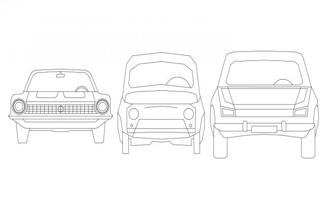 Cad Block Car Perspective 2D Drawing Free