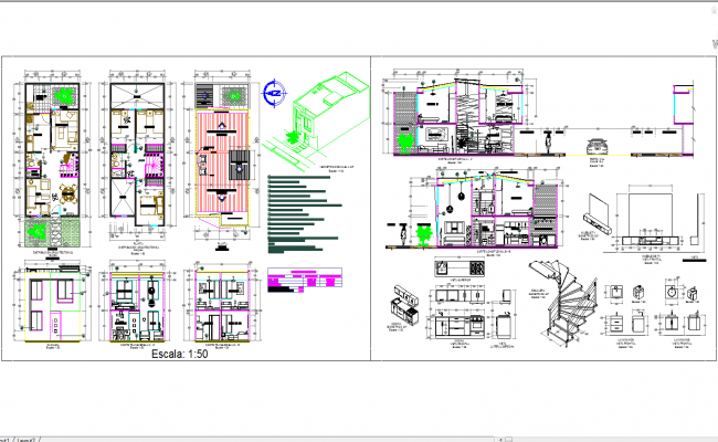 files of House architecture plan-detail and design