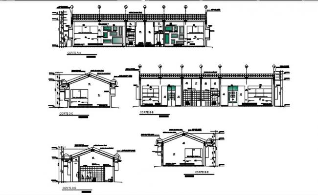 Cad sectional drawings details of building AutoCAD