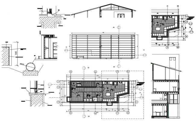 Cafe Architecture Plan CAD file Download