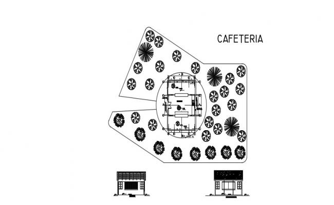 Cafe Floor Plan In AutoCAD File