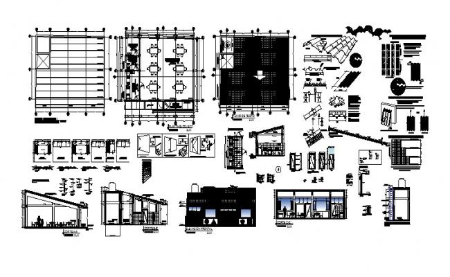 Cafeteria Elevation In DWG File
