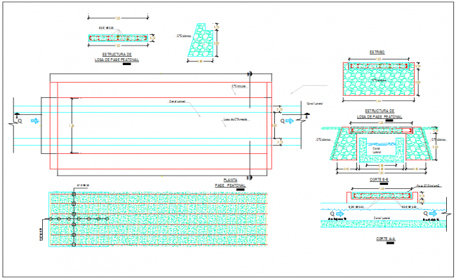 Canal structure detail information dwg file