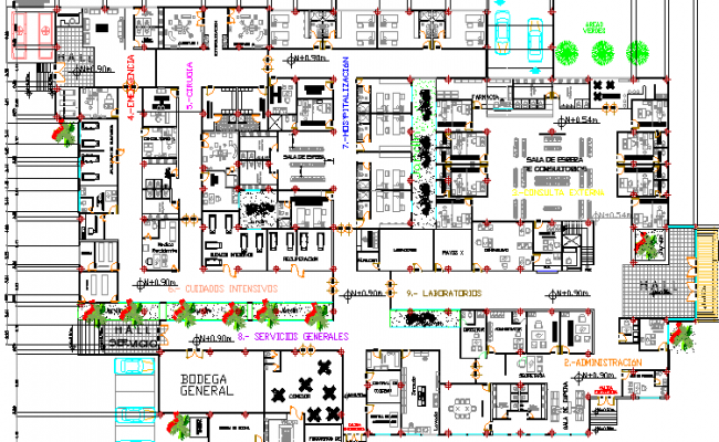 Cancer Specialty Clinic Architecture Project dwg file
