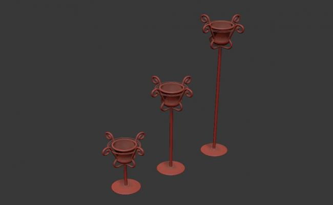 Candle Stand Model 3D MAX File Free Download