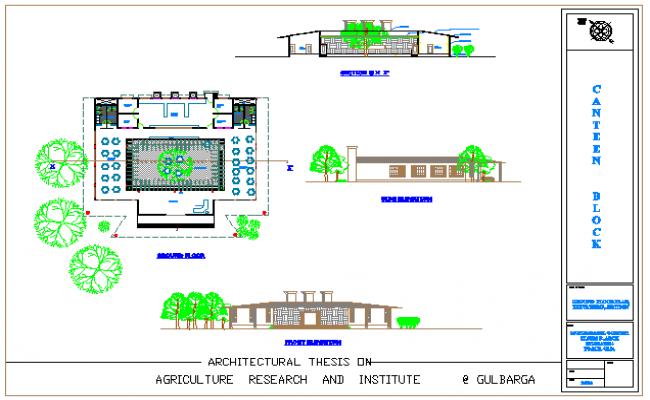 Canteen design drawing