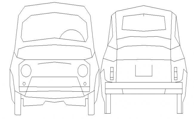 Car AutoCAD Block Free Download
