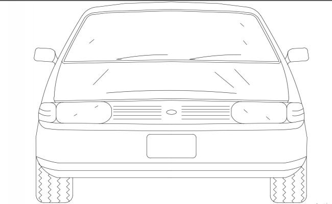 Car Elevation DWG  File Free