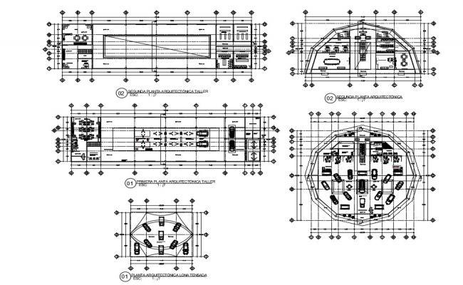 Car Service Center Plan CAD Drawings