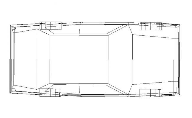 Car Top View DWG File