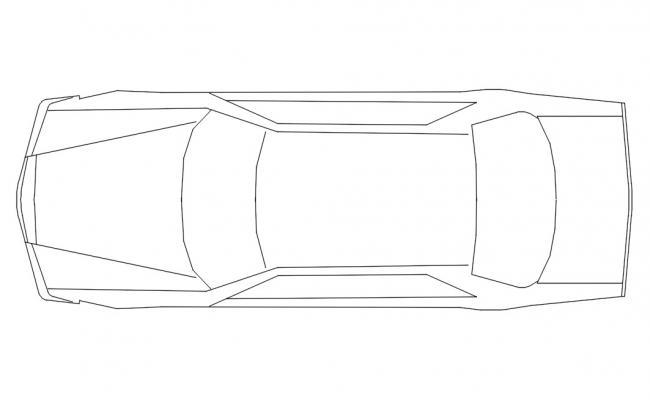 Car Top View Download Free DWG File