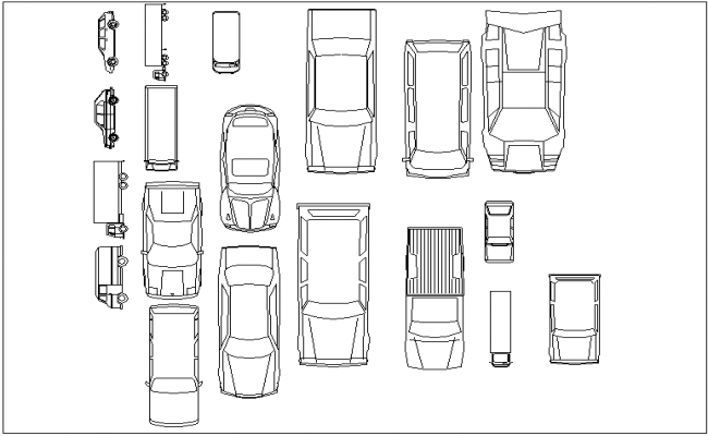 Car block view dwg file