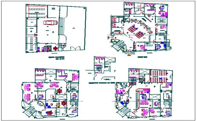 Car parking basement layout plan of office dwg file – Parking Layout Plan