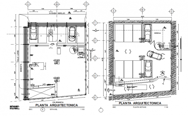 Car parking basement plan dwg file