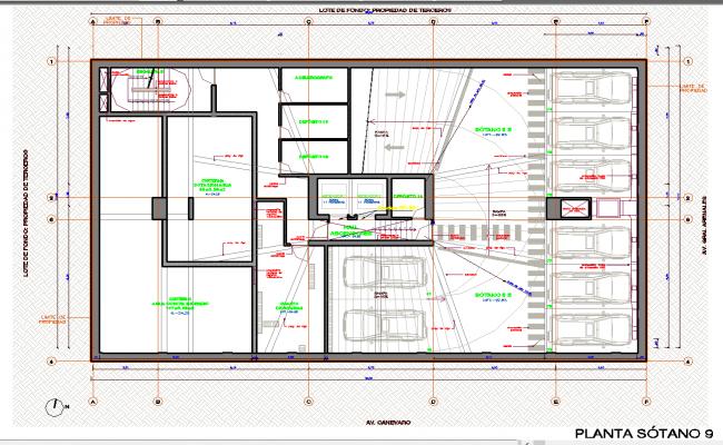 Car parking working plan detail dwg file