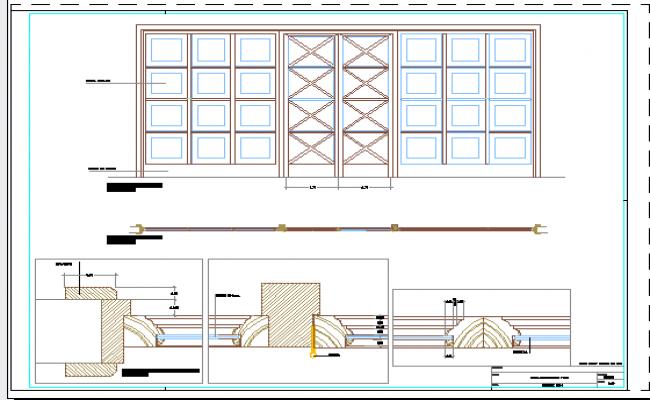 sc 1 st  Cadbull & Carpentry detail of Door window design drawing
