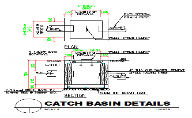 Catch basin Detail design drawing