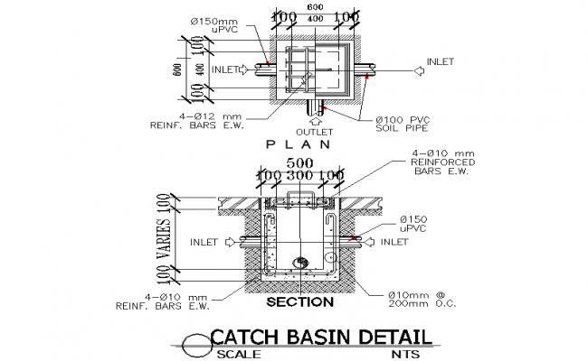 Catch basin detail dwg file