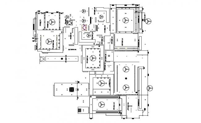 Ceiling Layout Design AutoCAD Drawing Plan