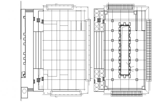 Ceiling Layout Design CAD Plan Download
