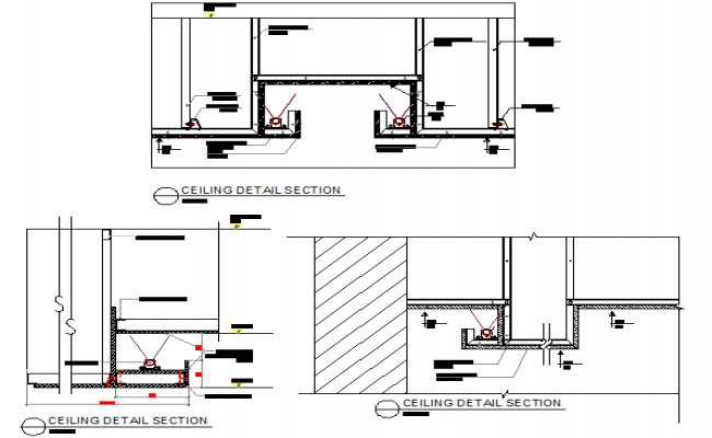Ceiling detail section dwg file