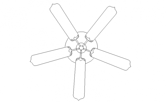 Ceiling fan 3d file