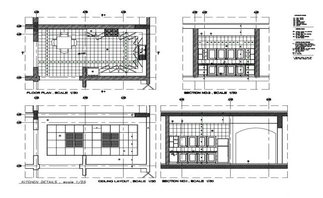 Ceiling Layout, Floor Plan Scale, Furniture And Interior ...