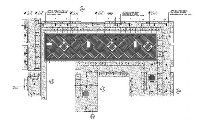 Ceiling layout plan in dwg file