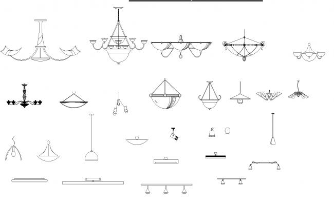Ceiling light plan detail dwg file.